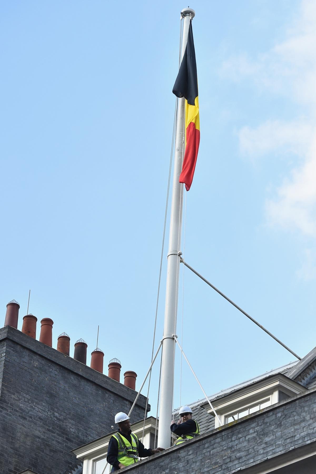 Belgian flag Downing Street