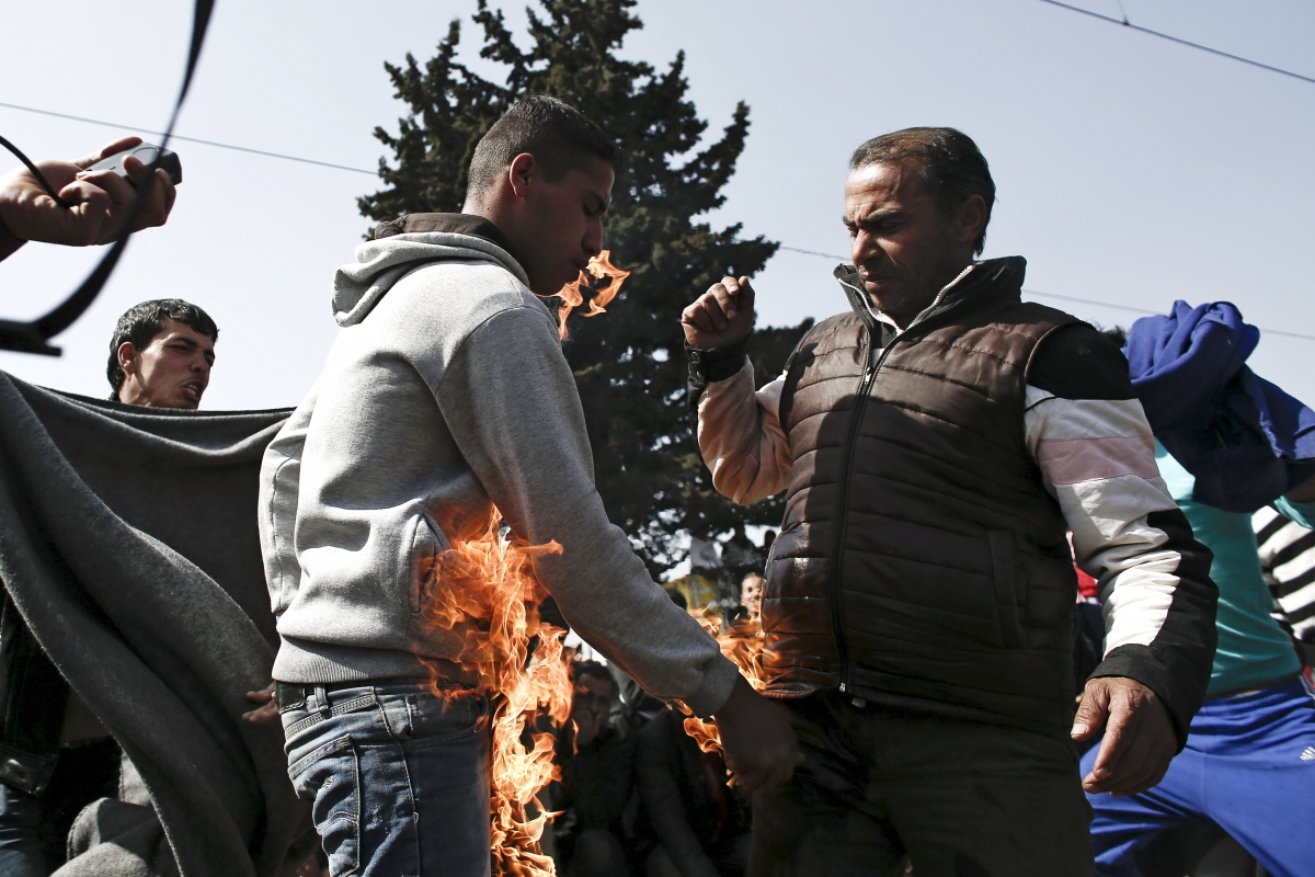 Man tries to self-immolate