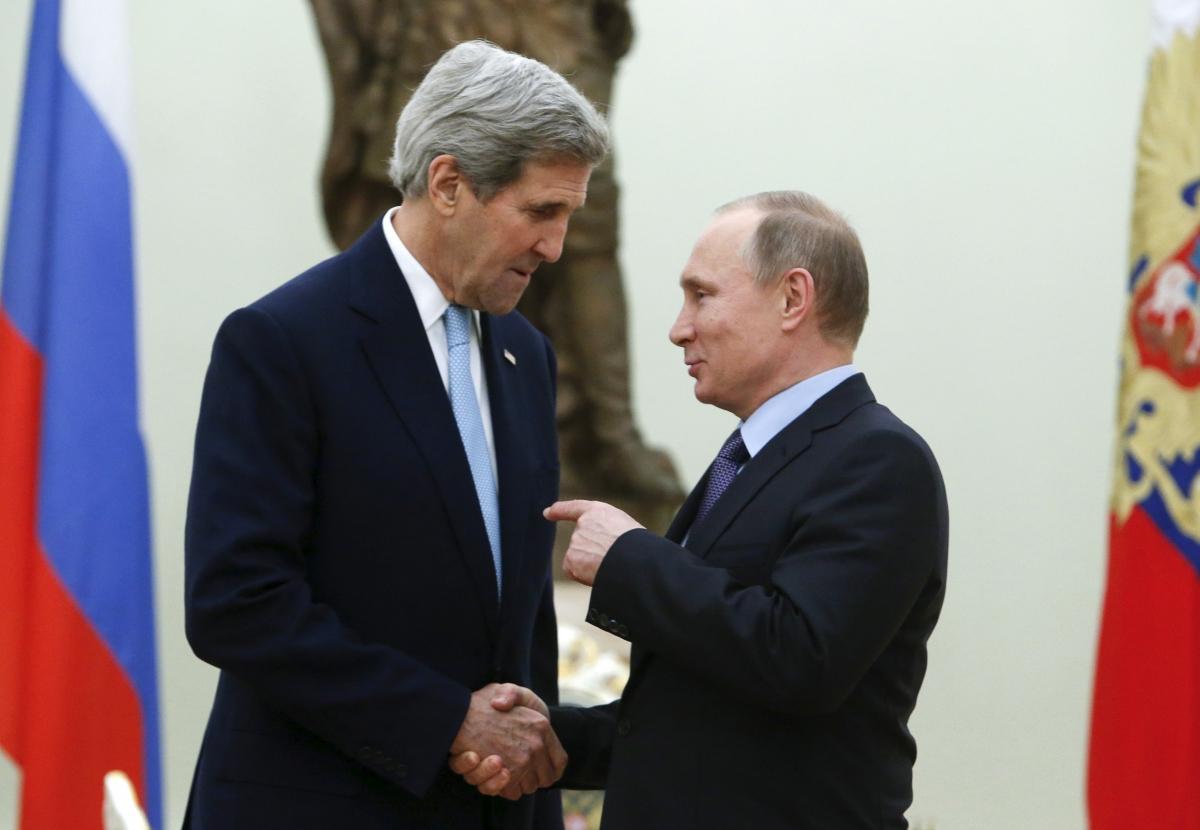 John Kerry in Russia for Putin Talks