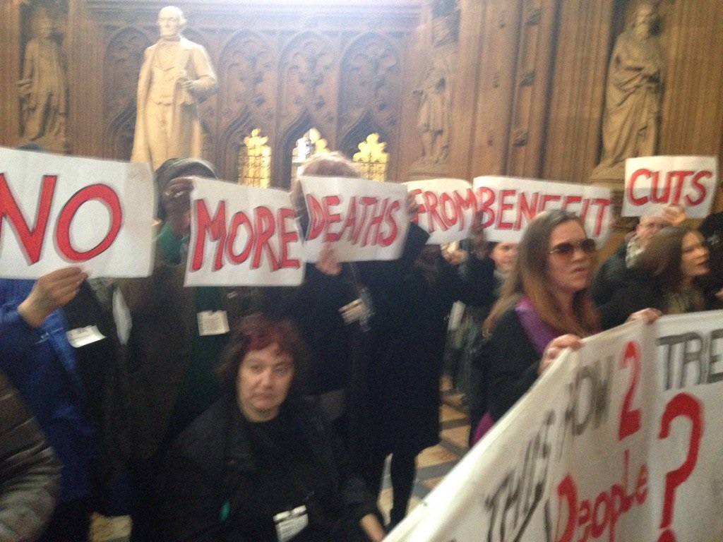 Disability benefit protests