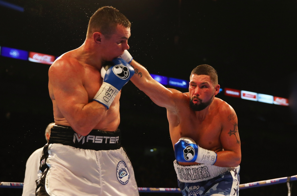 Tony Bellew (right) in the ring