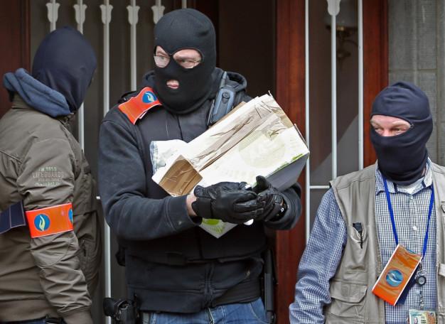 Masked Belgian police