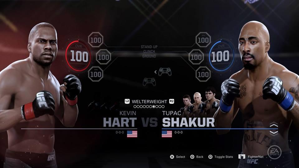 EA Sports UFC 2 Kevin Hart Tupac