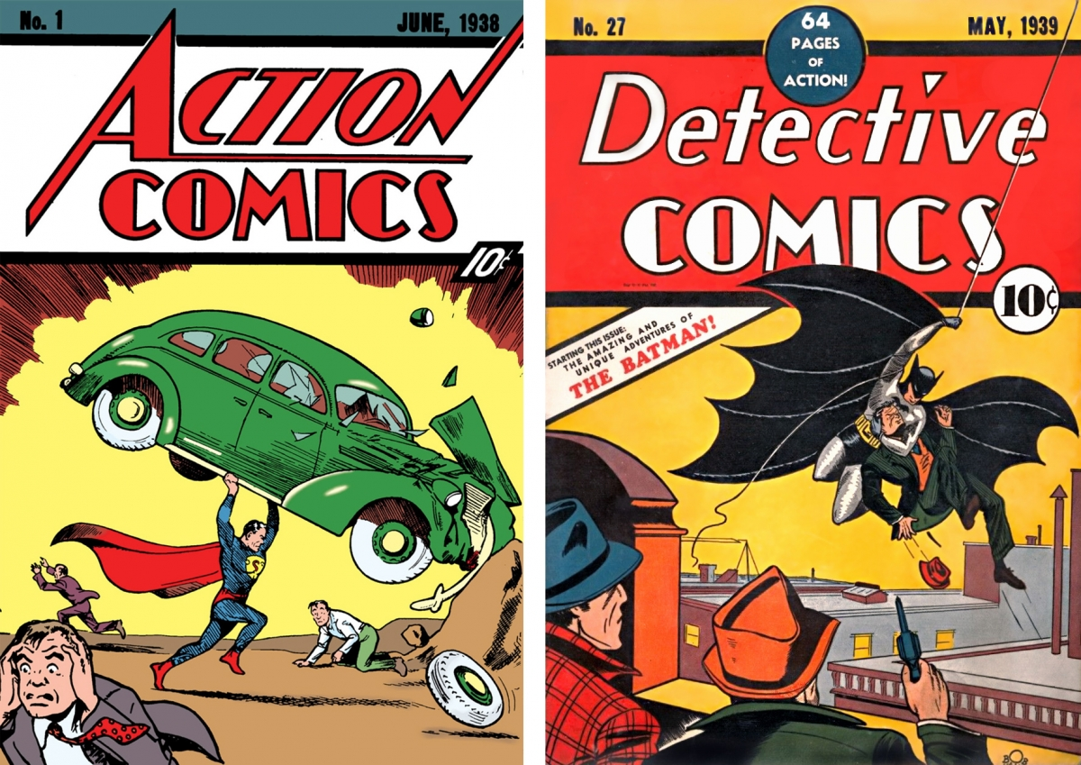 Action Comics #1 and Detective Comics #27