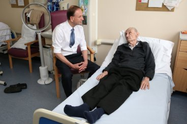 Patient in NHS hospital