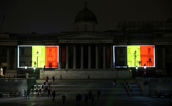 London lights up in tribute to Brussels