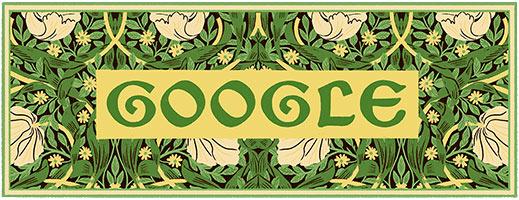 William Morris Google Doodle