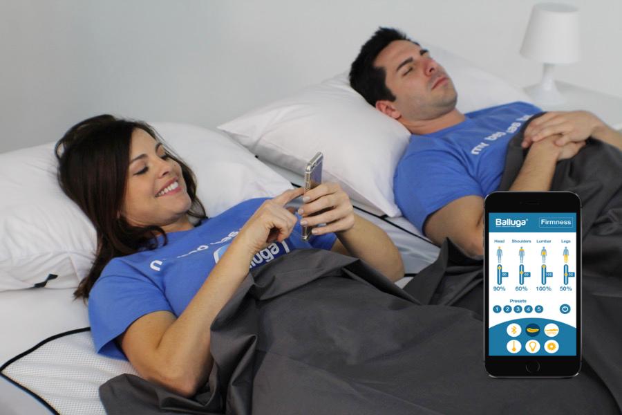 Balluga bed app control