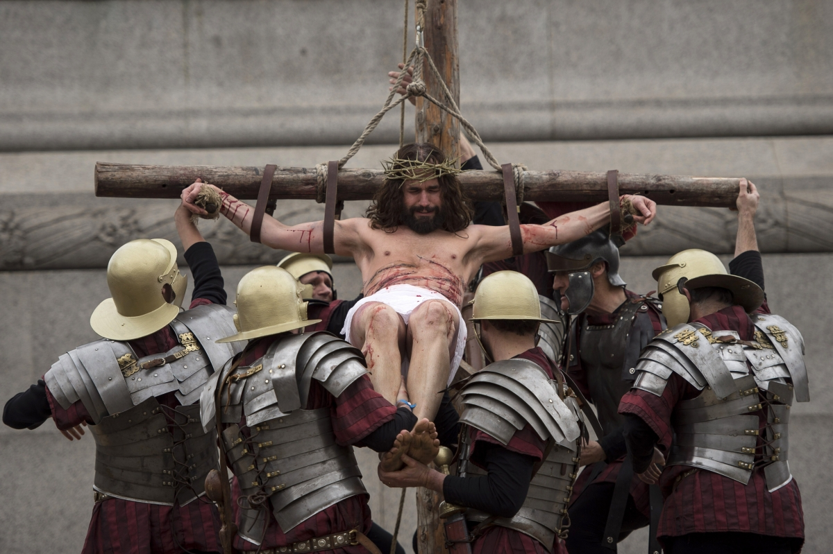 Easter performance in Trafalgar Square