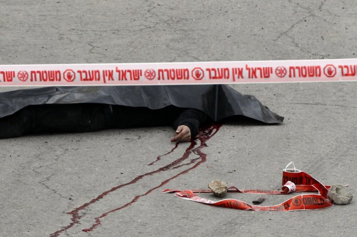 The body of the Palestinian attacker