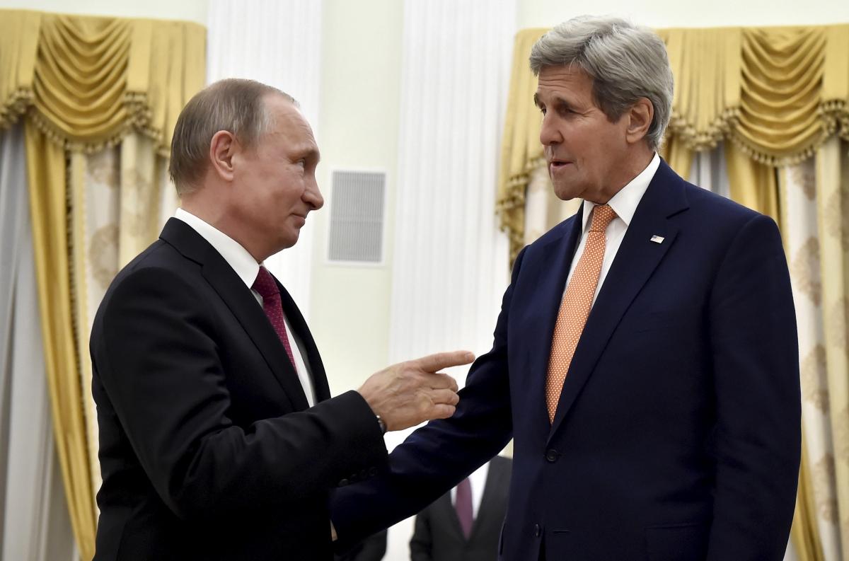 Vladimir Putin & John Kerry