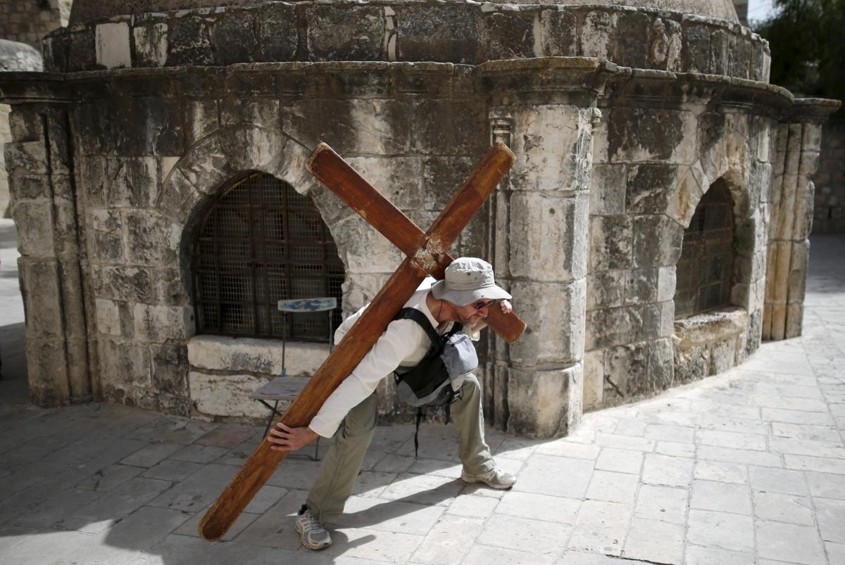 Jerusalem Christian Good Friday 2016
