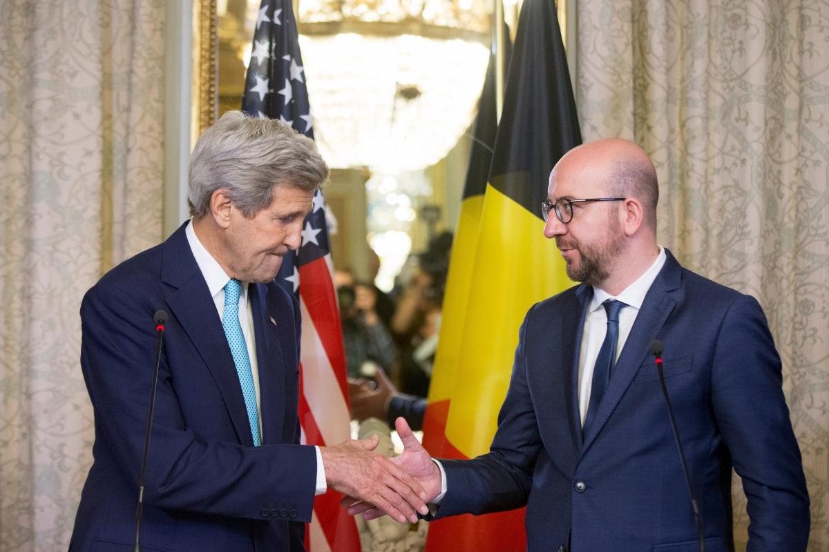 John Kerry & Charles Michel