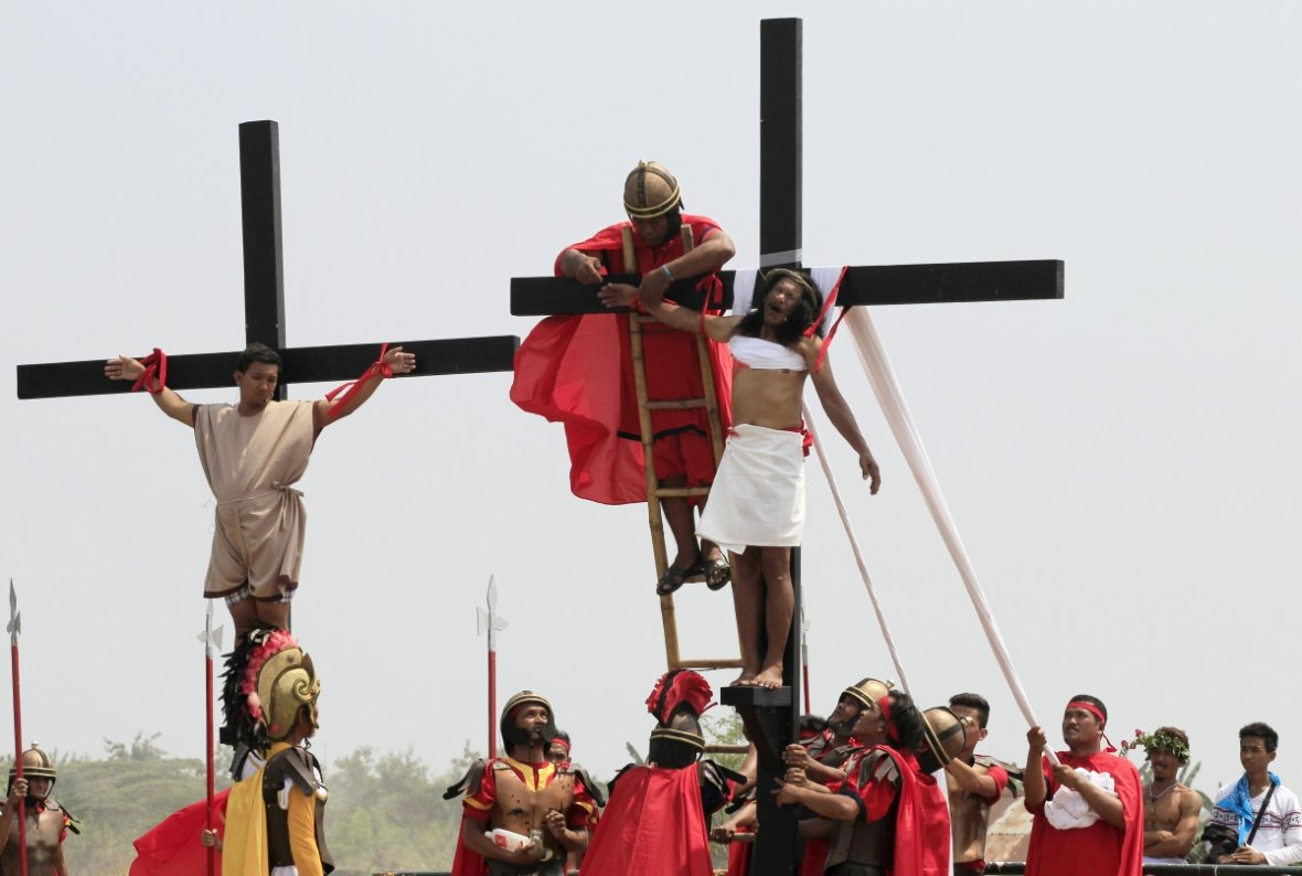 Good Friday crucifixion