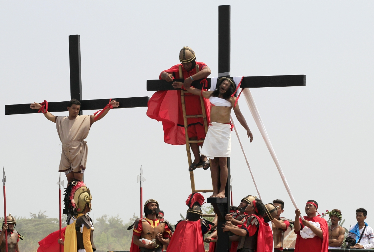 Good Friday crucifixion
