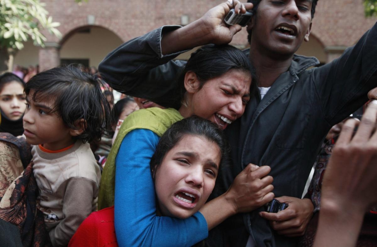 Lahore suicide bomb grief