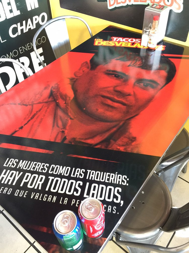 Drug-lord themed taqueria Los Desvalados