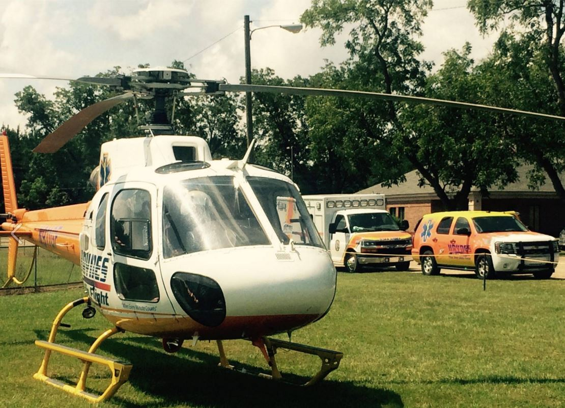 Haynes Lifeflight helicopter