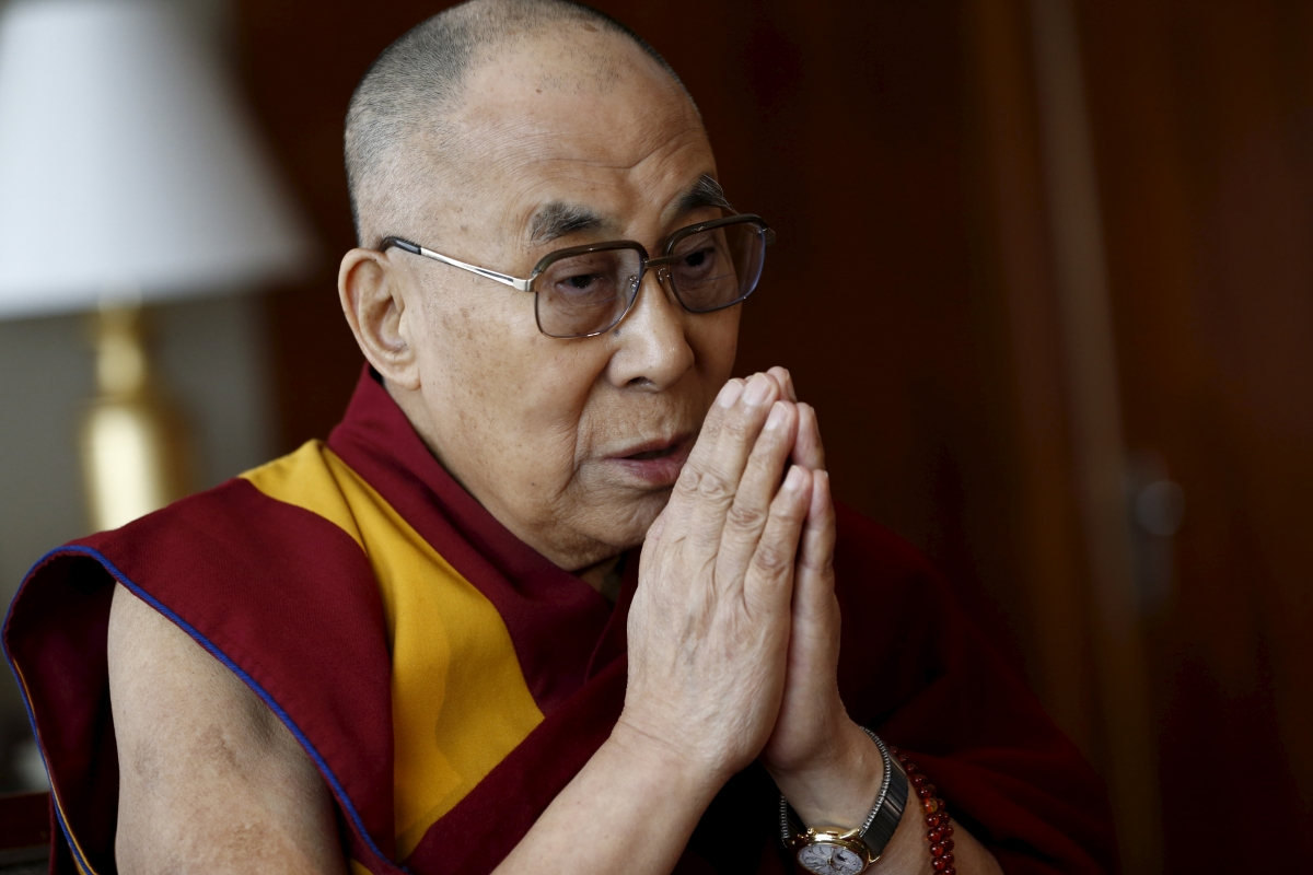 China asks Taiwan not to allow the Dalai Lama on a visit Tibetan spiritual leader the Dalai Lama talks with journalists in Geneva   File photo Reuters