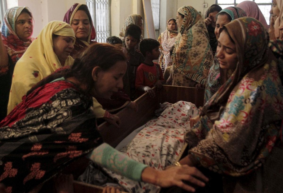 Family mourn Lahore park victim