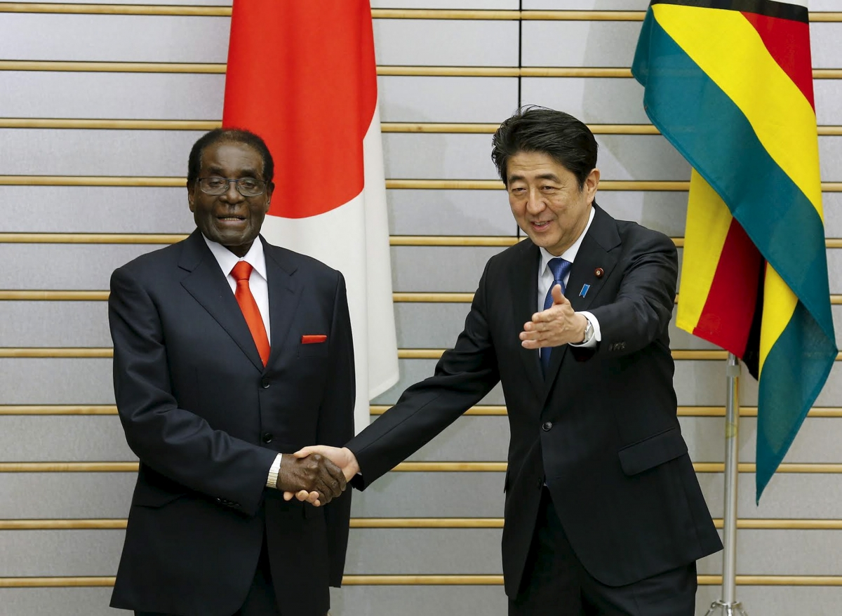 Robert Mugabe in Japan