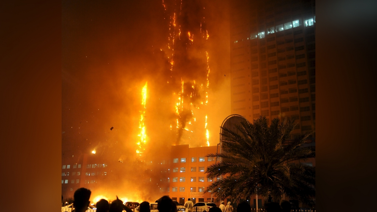 Ajman tower fire