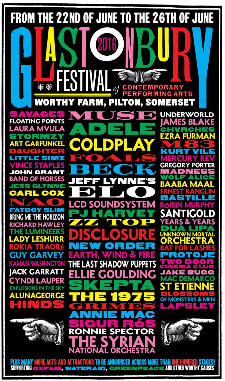 Glastonbury 2016 line-up