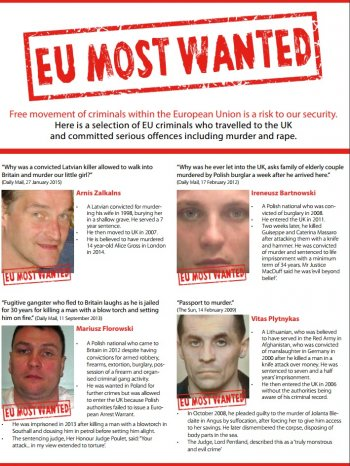 Vote Leave's 'EU most wanted' dossier