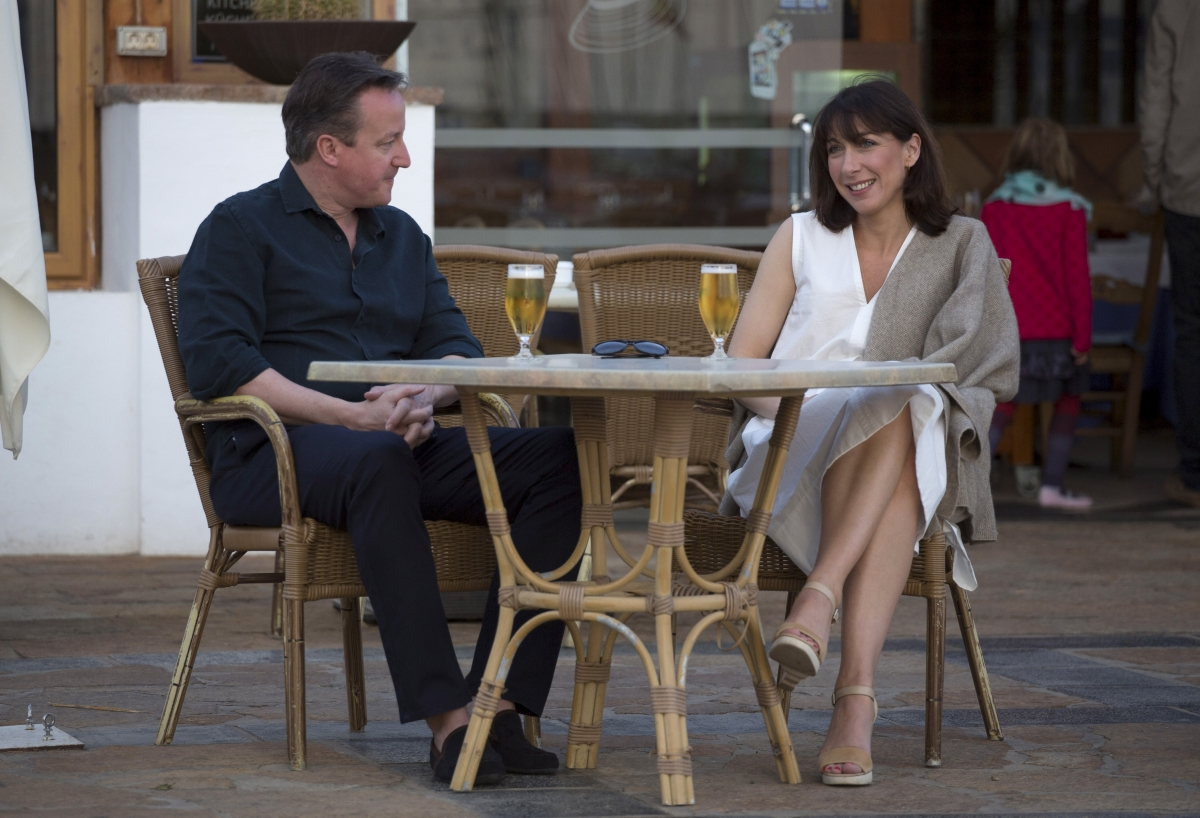 David and Samantha Cameron in Lanzarote