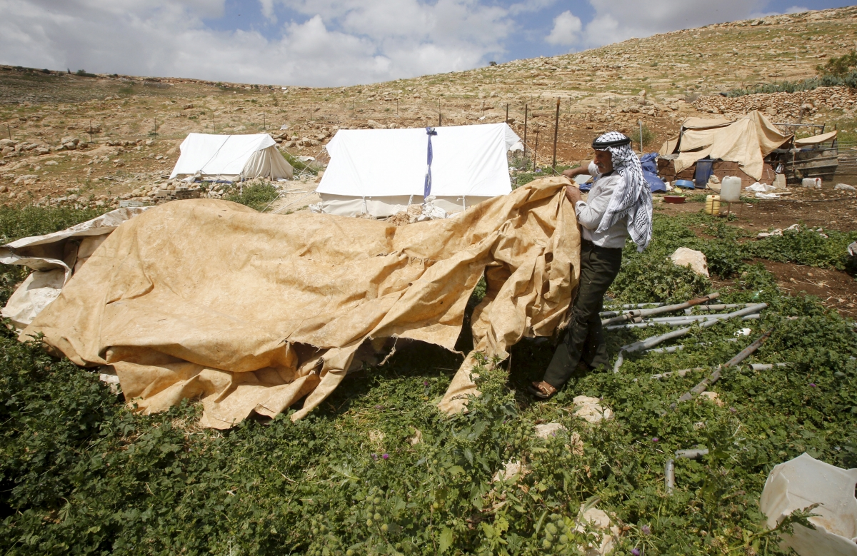 west bank bedouin village demolished IDF