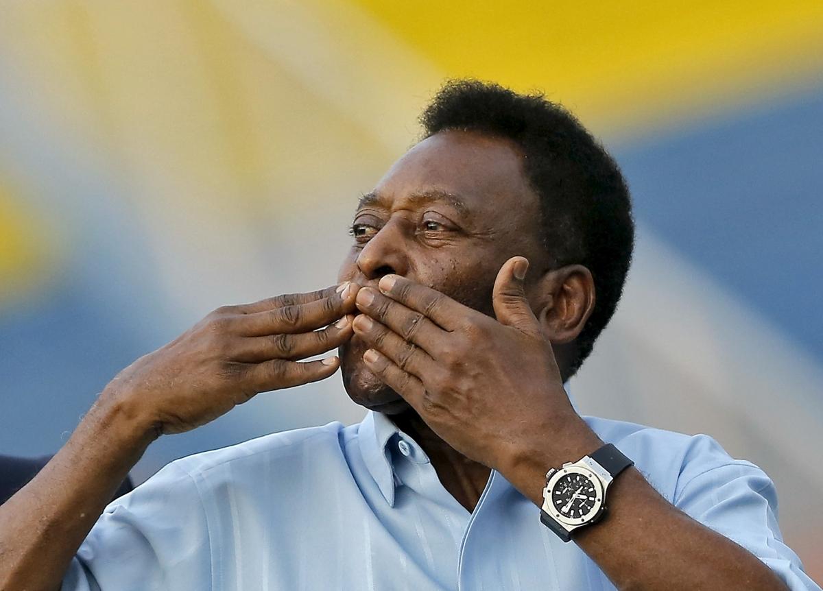 Legendary Brazilian soccer player Pele