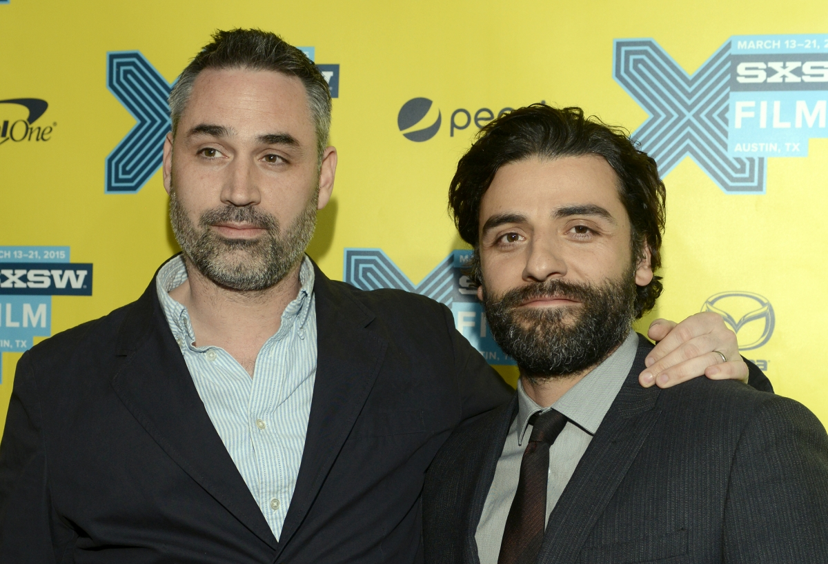 Alex Garland and Oscar Isaac