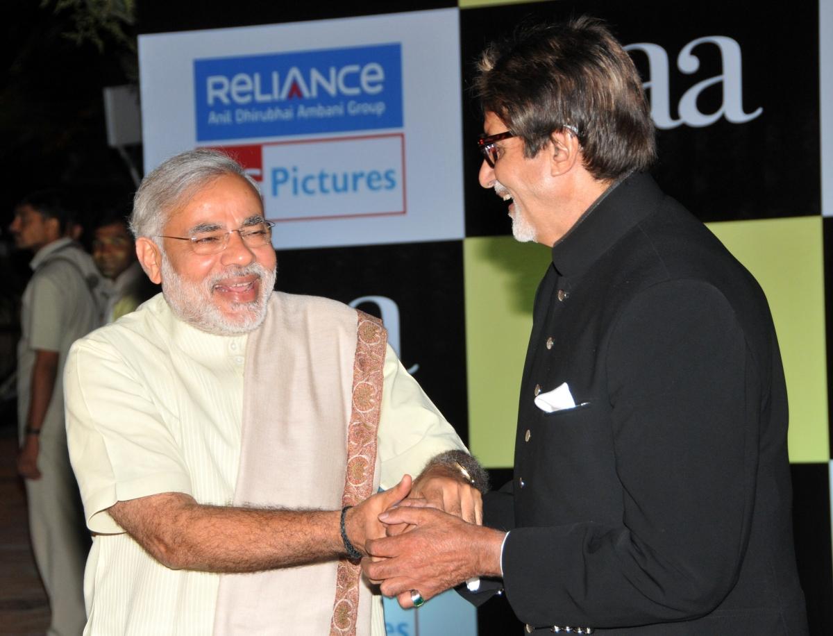 Modi and Amitabh Bachchan