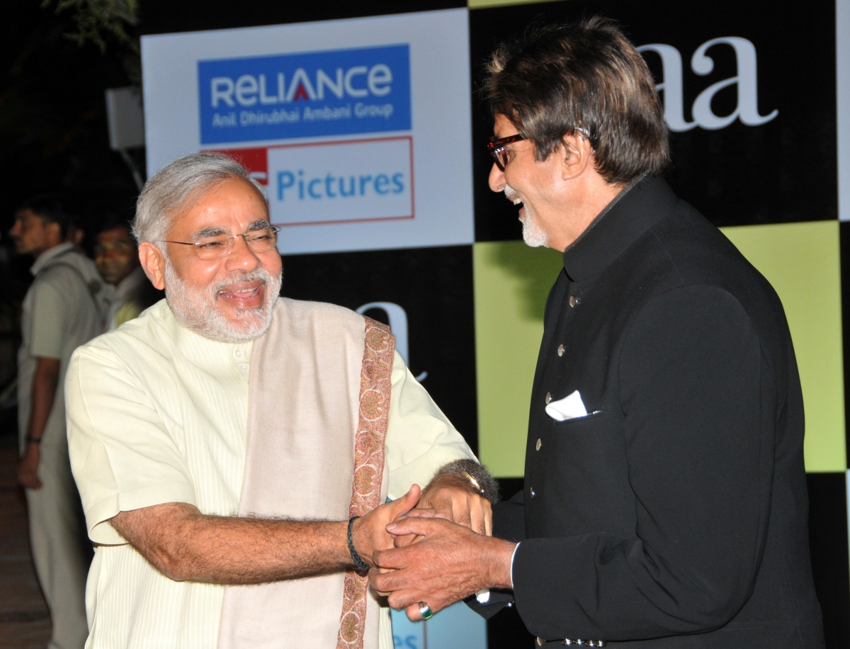 Modi and Amitabh Bachchan