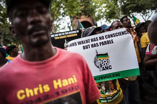 ANC members protesting against Janusz Walus parole