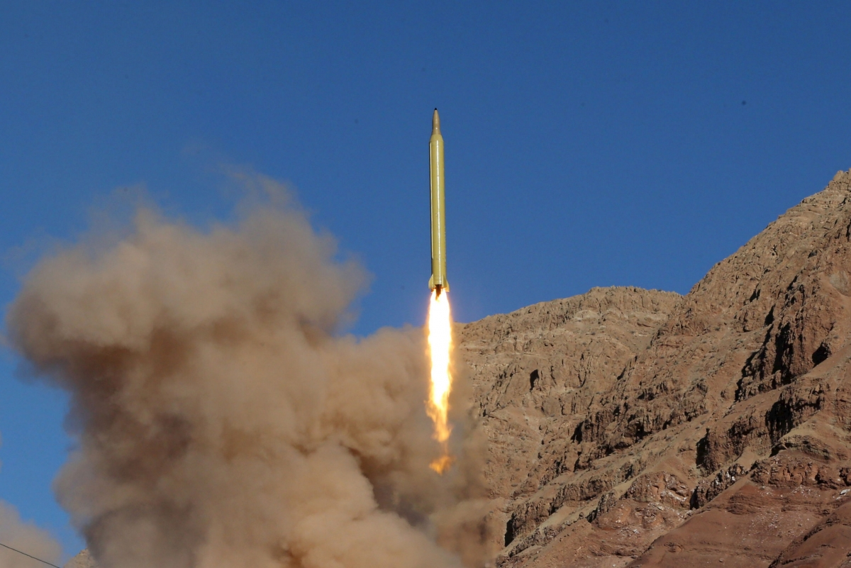 Ballistic missile test-fired by Iran
