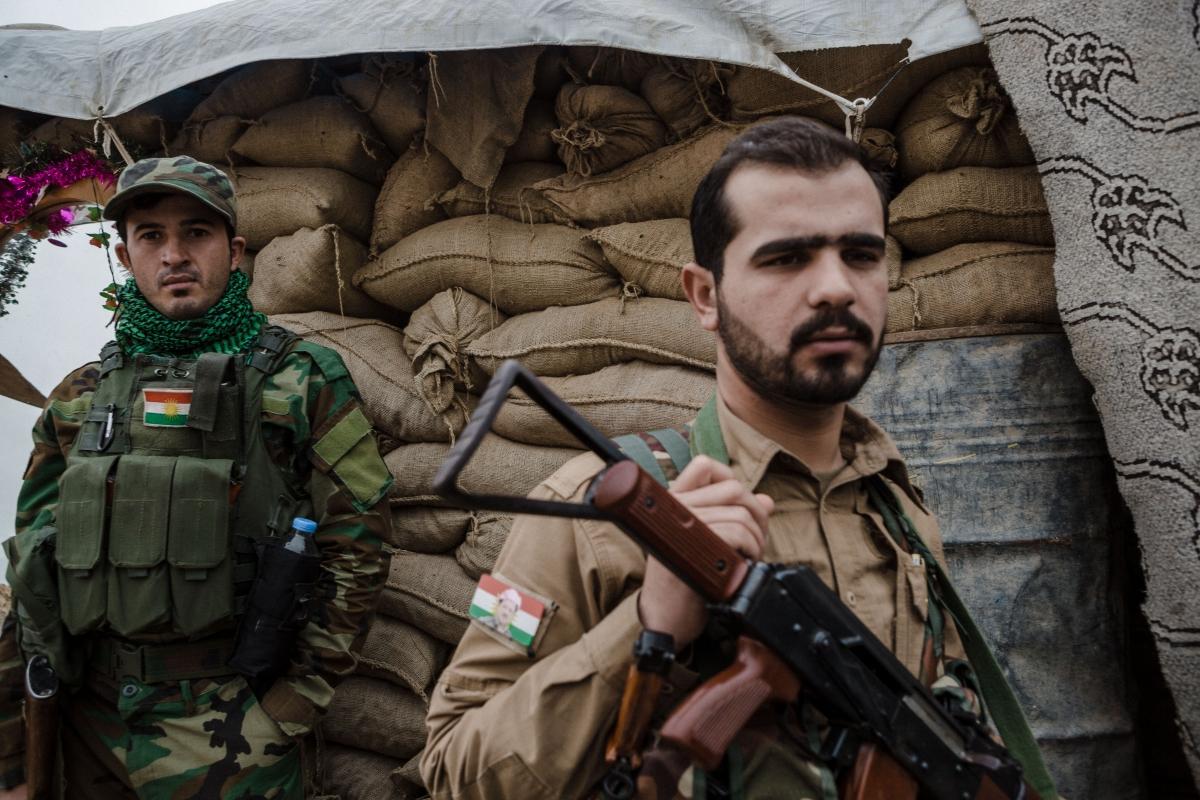 Sinjar Peshmerga front line
