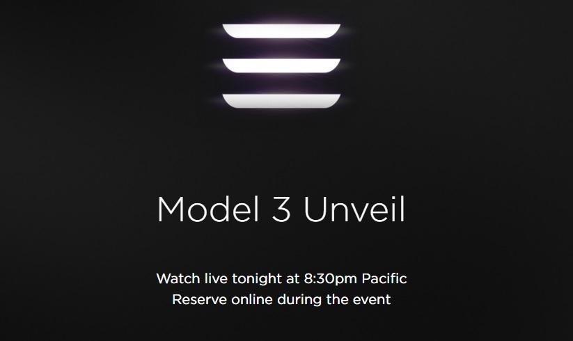 Tesla Model 3 live stream