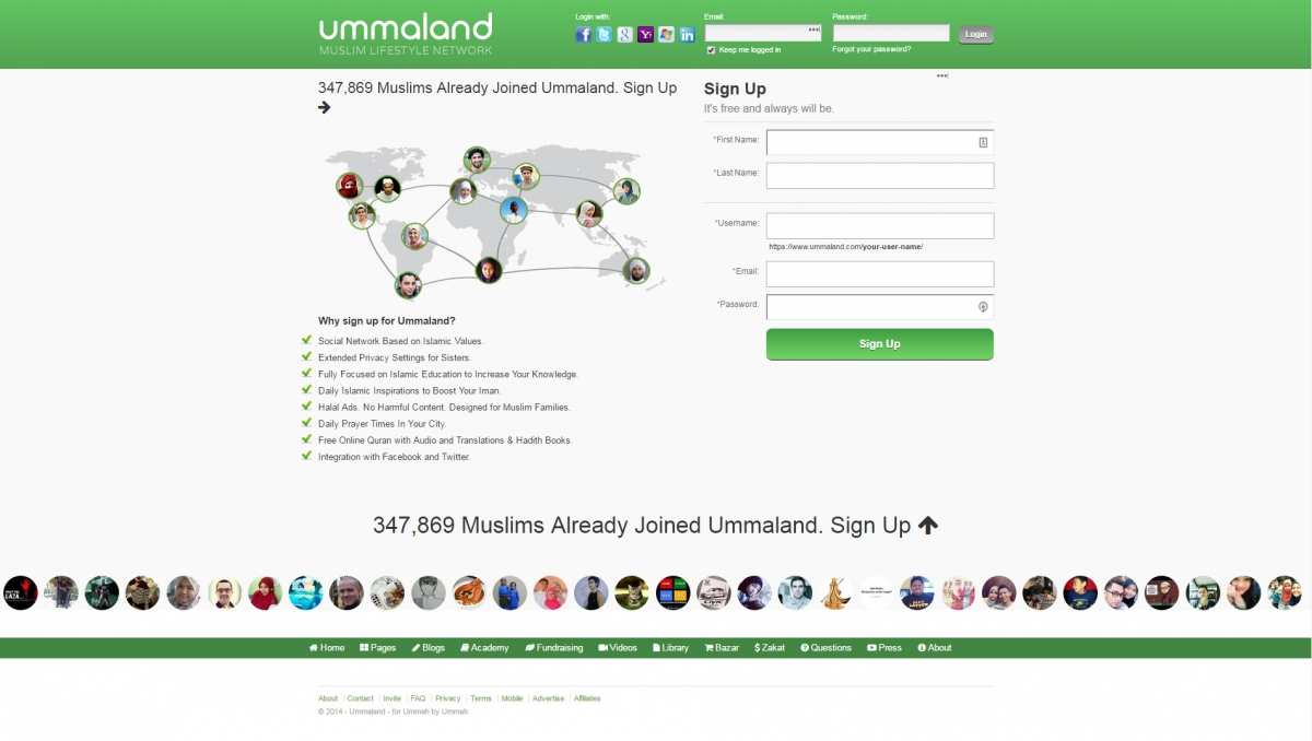 Ummaland social network