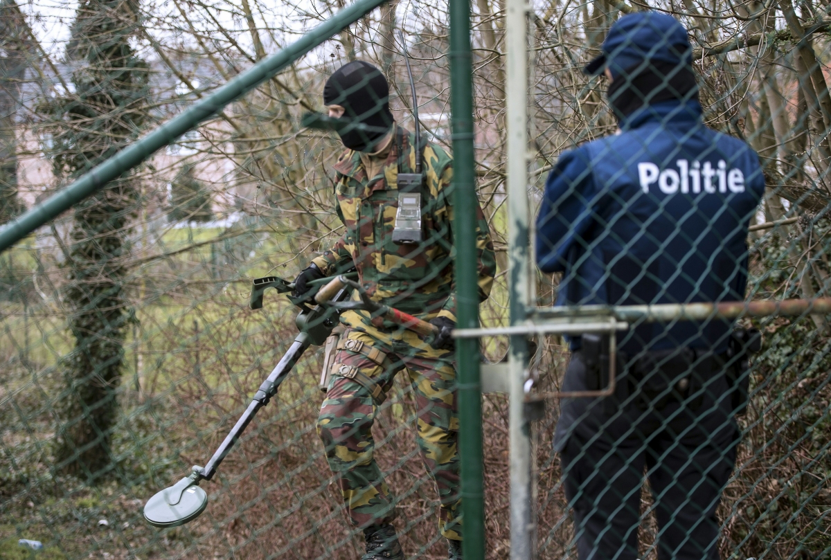 Belgium police search