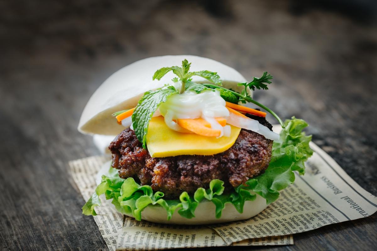 Steamed bun burger from pho & bun