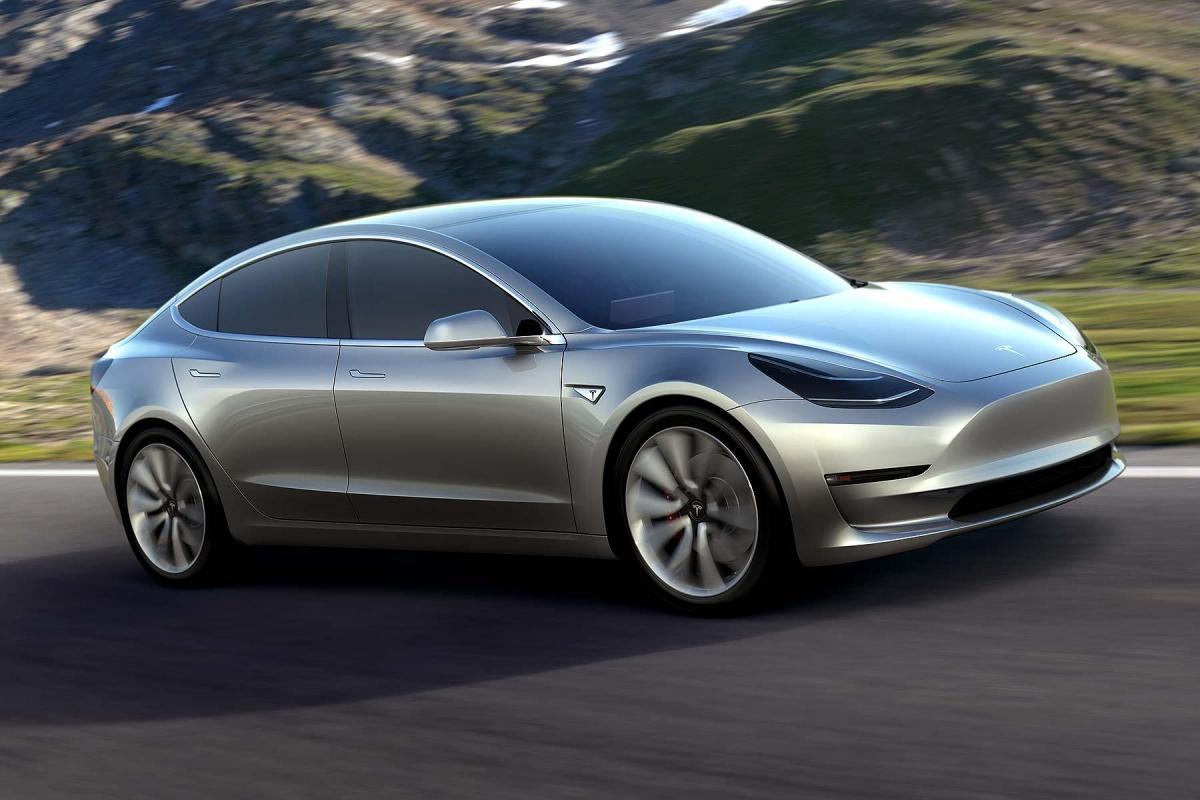 Tesla Model Revealed Elon Musk Shows Off New Electric Car