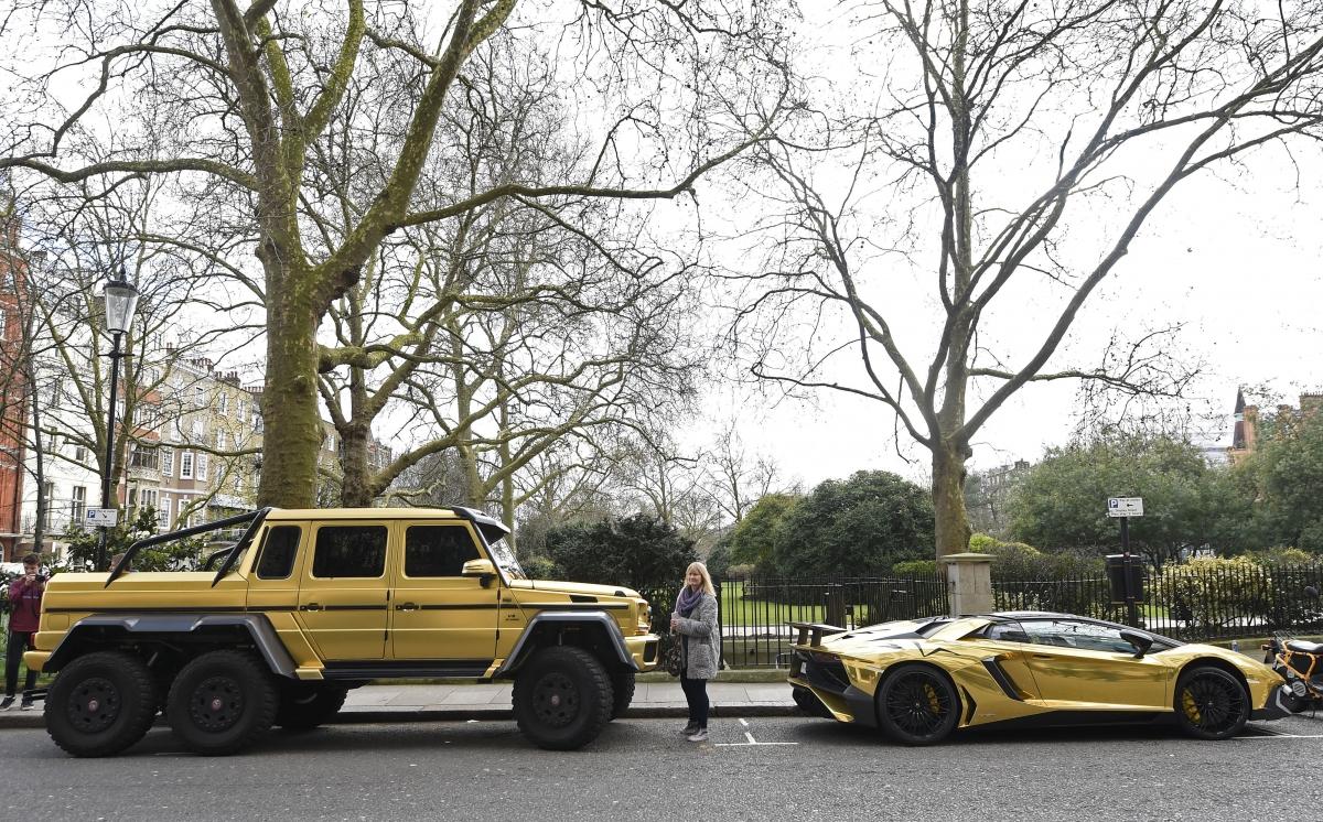 Fleet of gold supercars