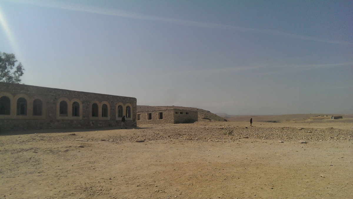 The militia fortress in Desarak village