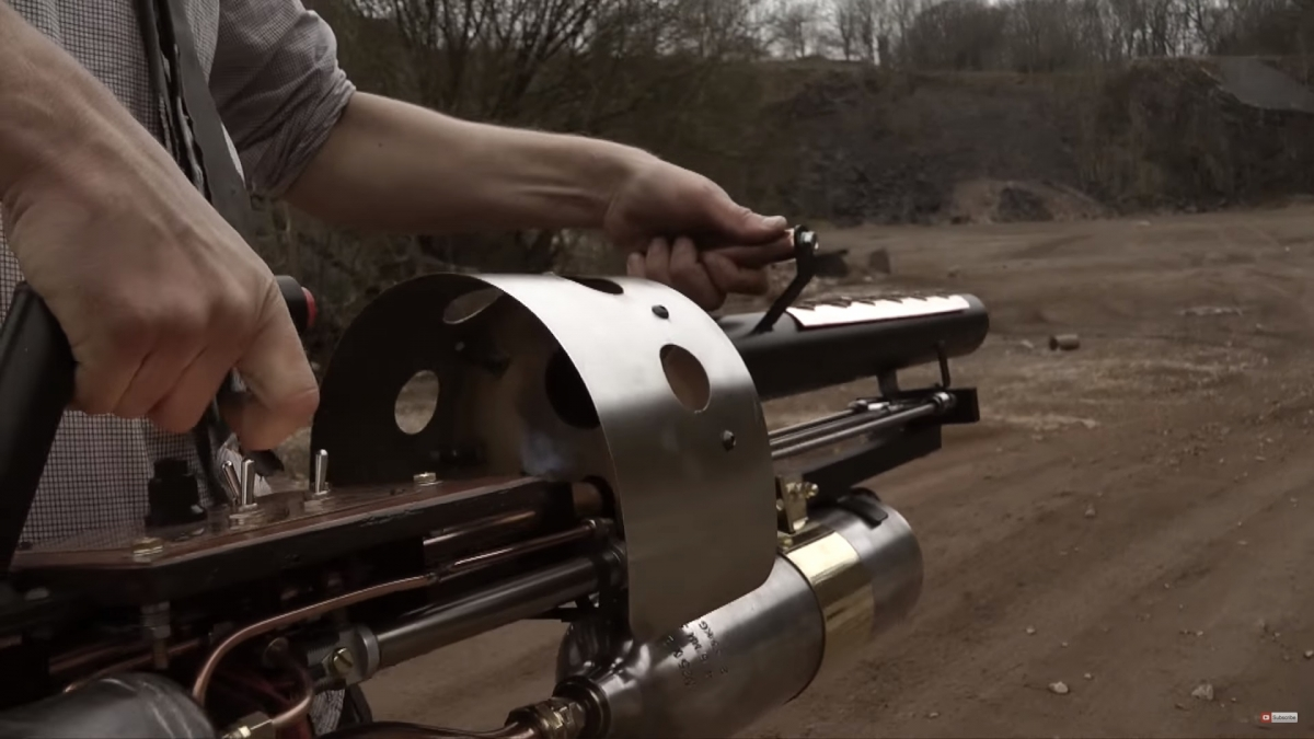 Home-made thermite cannon