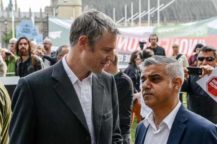 Zac Goldsmith and Sadiq Khan