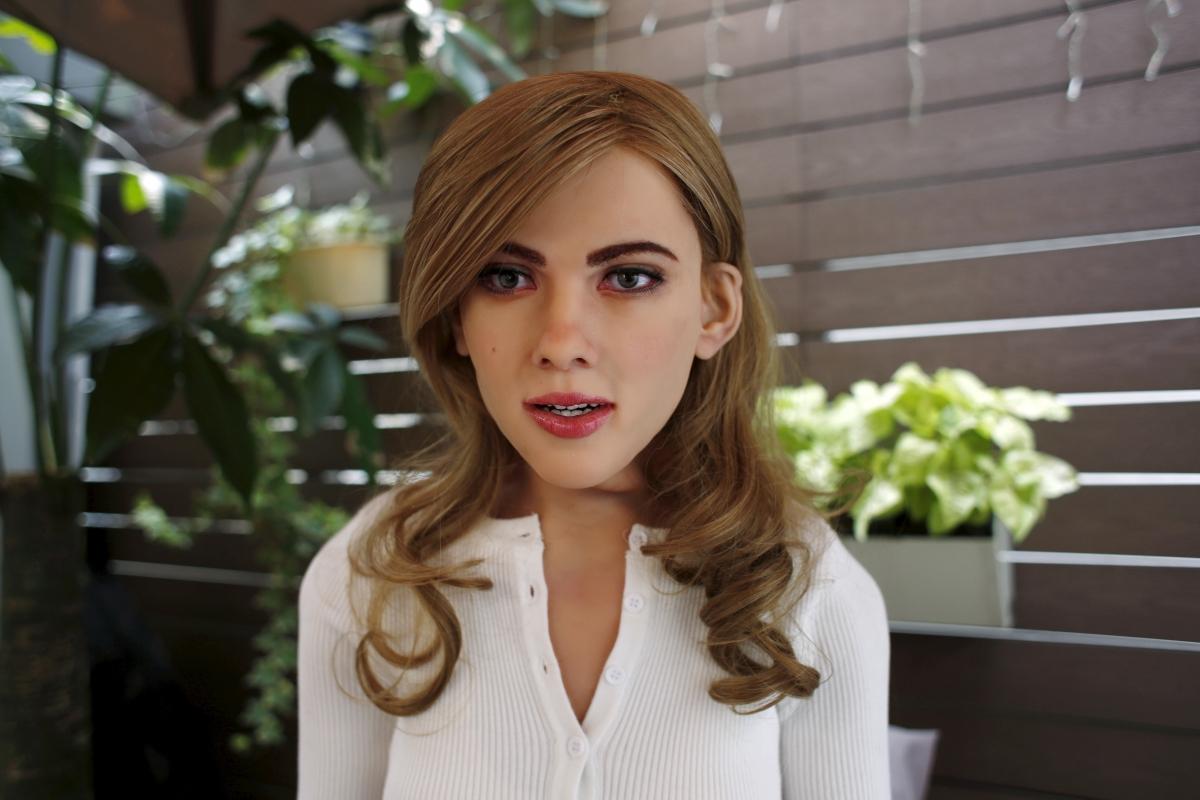 Mark 1 Scarlett Johansson lookalike humanoid robot
