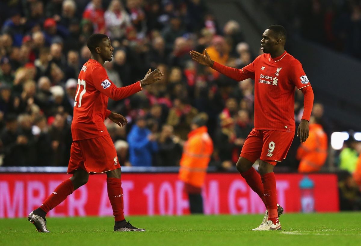 Divock Origi and Christian Benteke