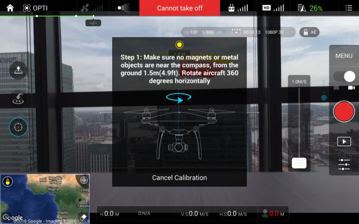 How to calibrate Phantom 4 drone's compass