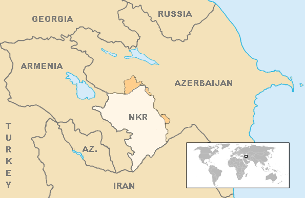 Nagorno-Karabakh Republic region map